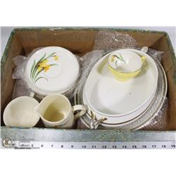 FLAT OF ASSORTED CHINA INCL ROYAL WINTON GRIMWADES
