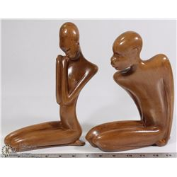 "SET OF 2 CERAMIC ""HOTTY MAN & WOMAN"