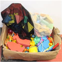LARGE LOT OF FOAM POOL TOYS, RUBBER DUCKIES & MORE