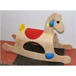 ONE PIECE SOLID WOOD HANDMADE  HORSE