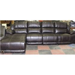 "NEW 125"" X 67"" BROWN LEATHERETTE 4PCS SECTIONAL"