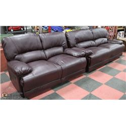 NEW ANDERSON BONDED LEATHER SOFA AND LOVESEAT,