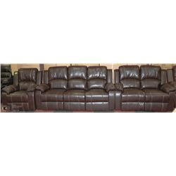 NEW MUNICH 2 TONE CHOCOLATE LEATHER CHAIR, SOFA &