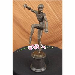 Russian Tamborine Dancer Bronze Sculptur