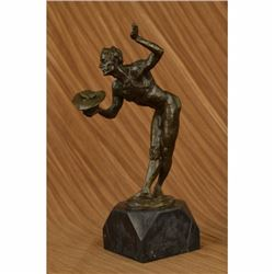 The Hunter Bronze Sculpture on Marble Base Figurine