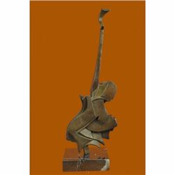 Modern Art Guitar Bronze Sculpture