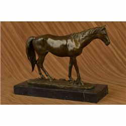 Arabian Racing Horse Mere Stallion Bronze Sculpture