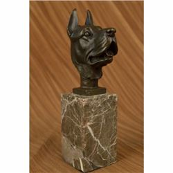 Great Dane Dog Lover Bronze Sculpture