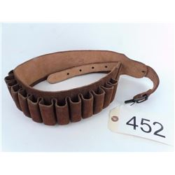 Suede Leather Shot Shell Belt