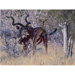 """""""JUST PASSING BY"""" S/N (43/75) LIMITED EDITION GICLÉE CANVAS by JOHN BANOVICH"""