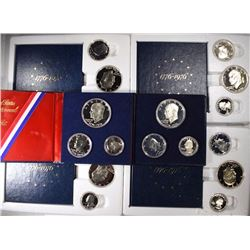 6 3-Piece 1976 Bicentennial Proof Sets