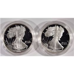 Set of 2 Proof Silver American Eagles 1986 & 1987
