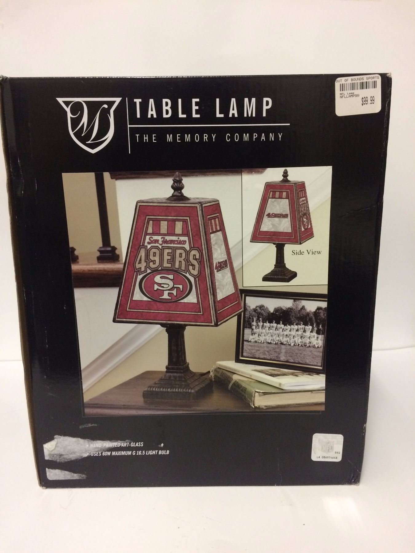 Image 1 : SAN FRANCISCO 49ERS TABLE LAMP (BRAND NEW)
