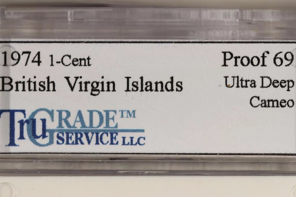 1974 AND 1985 BRITISH VIRGIN ISLANDS 1 CENT BOTH