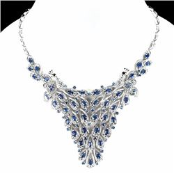 Natural Stunning Blue Sapphire 292 Carats Necklace