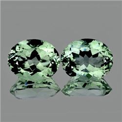 Natural Light Green Tea Amethyst Pair 12x10 MM - VVS
