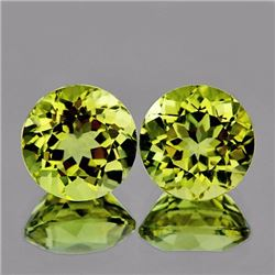Natural Green Gold Lemon Quartz Pair 8.00 MM - VVS