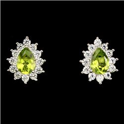 Natural Green Peridot Earrings