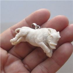 Hand carved Boar Pendant