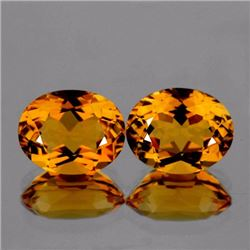 Natural Golden Yellow Pair Citrine 9 x 7 MM  VVS
