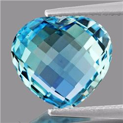 Natural Sky Blue Heart Double Checker Topaz  9.40 Cts