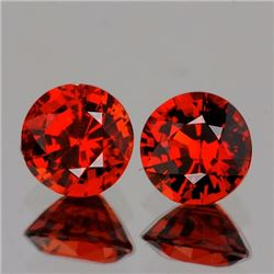 Natural Mandarin Orange Spessartite Pair 5.30 mm - VVS