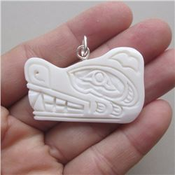 West Coast Native Carved Bear Pendant