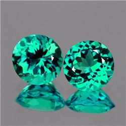 Natural Paraiba Green Blue Apatite Pair 6.70 MM - FL