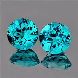 Natural Rare Brazil Blue Apatite Pair 7.30 MM - VVS