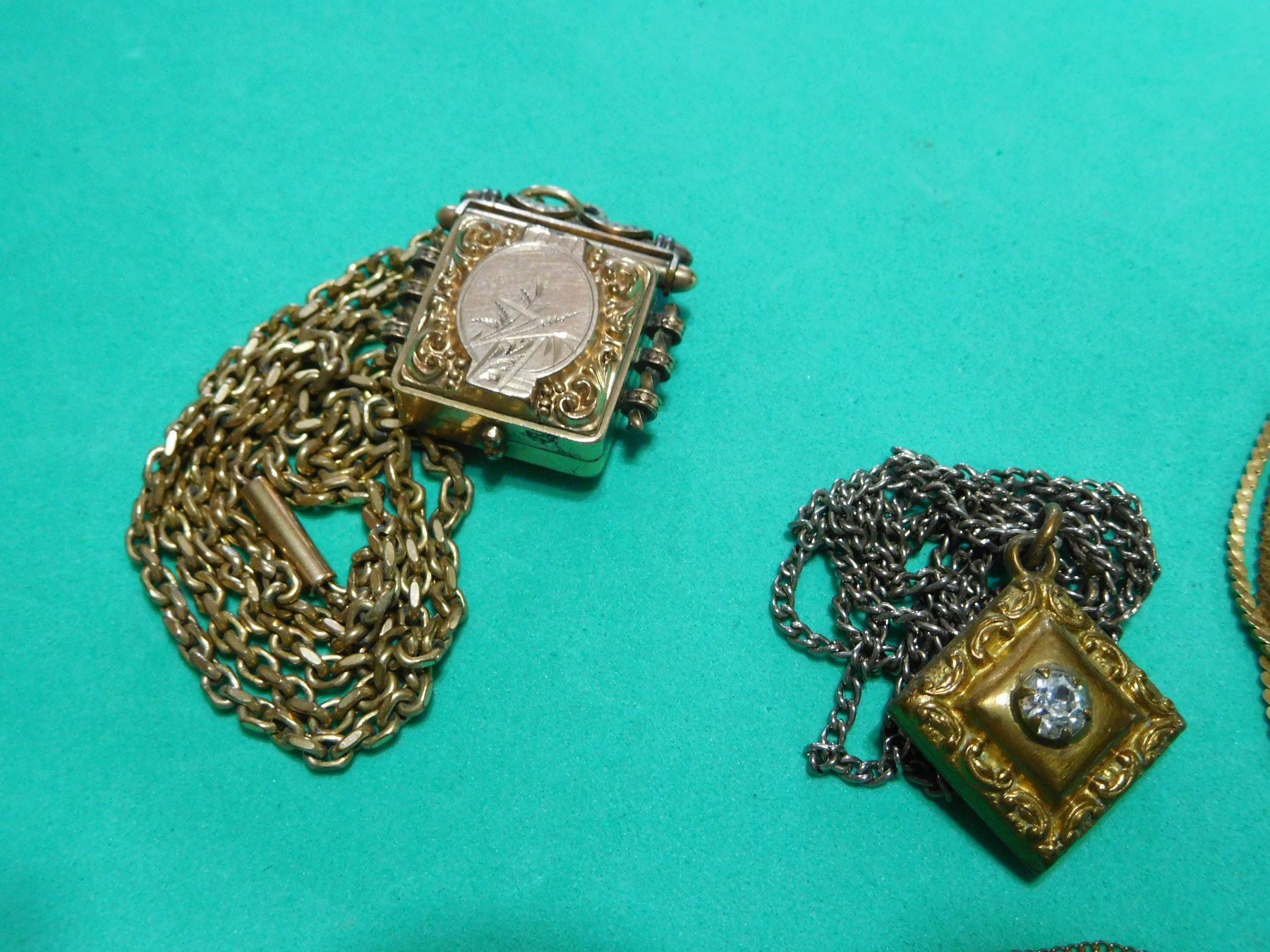 motif me nyc necklace ellie gold finish miss lockets clear locket deco antique oval square crystals ag