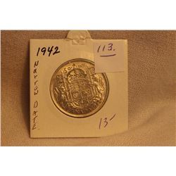 1942 Canada George VI Silver Fifty Cents