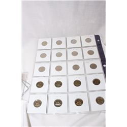 Canada Five Cent Coins (20) 1980 to 1999