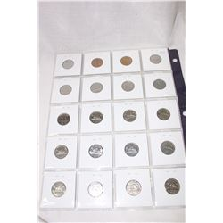 Canada Five Cent Coins (20) 1942 to 1959 2(1947) 2 (1942)