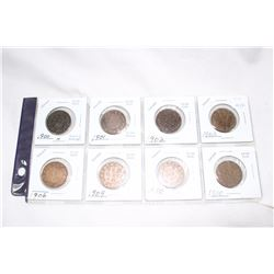 Canada One Cent Coins (8) 1900; 1901; 1902; 1903; 1906; 1909; 1910; 1910