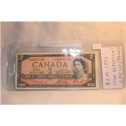 Canada Two Dollar Bill - 1954 - Replacement
