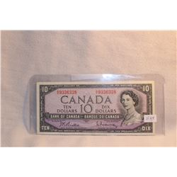 Canada Ten Dollar Bill - 1954