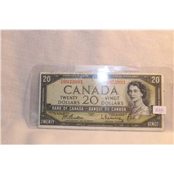 Canada Twenty Dollar Bill - 1954