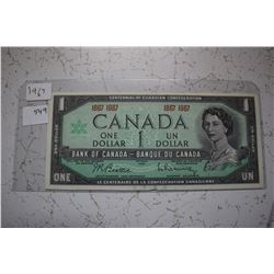 1967 Canada Centennial Dollar - No Serial #
