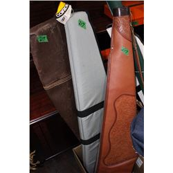 3 Soft Sided Gun Cases (1 Leather)