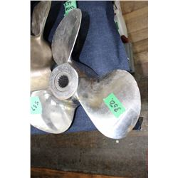 Silver Coloured Boat Propellor