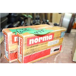 Part Box of 6.5 Norma Ammo & Part Box of Brass