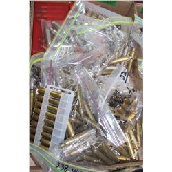 Flat of 300 & 338 Winchester Mag Brass