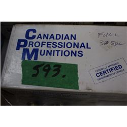 Full Box of 38 Special Range Munitions Ammo