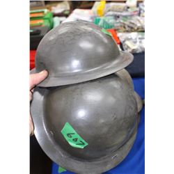 2 - Children's WWI Helmets - one money