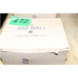 Box of WWII 303 Ball