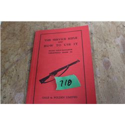 Lee Enfield Service Rifle Guide (1937) - Reprinted in 1998