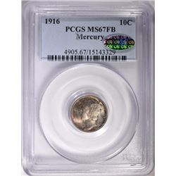 1916 MERCURY DIME PCGS MS67FB CAC