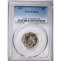 1935 BUFFALO NICKEL, PCGS MS-67