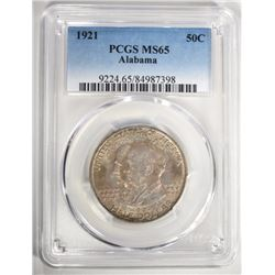 1921 ALABAMA HALF DOLLAR COMMEM. PCGS MS-65