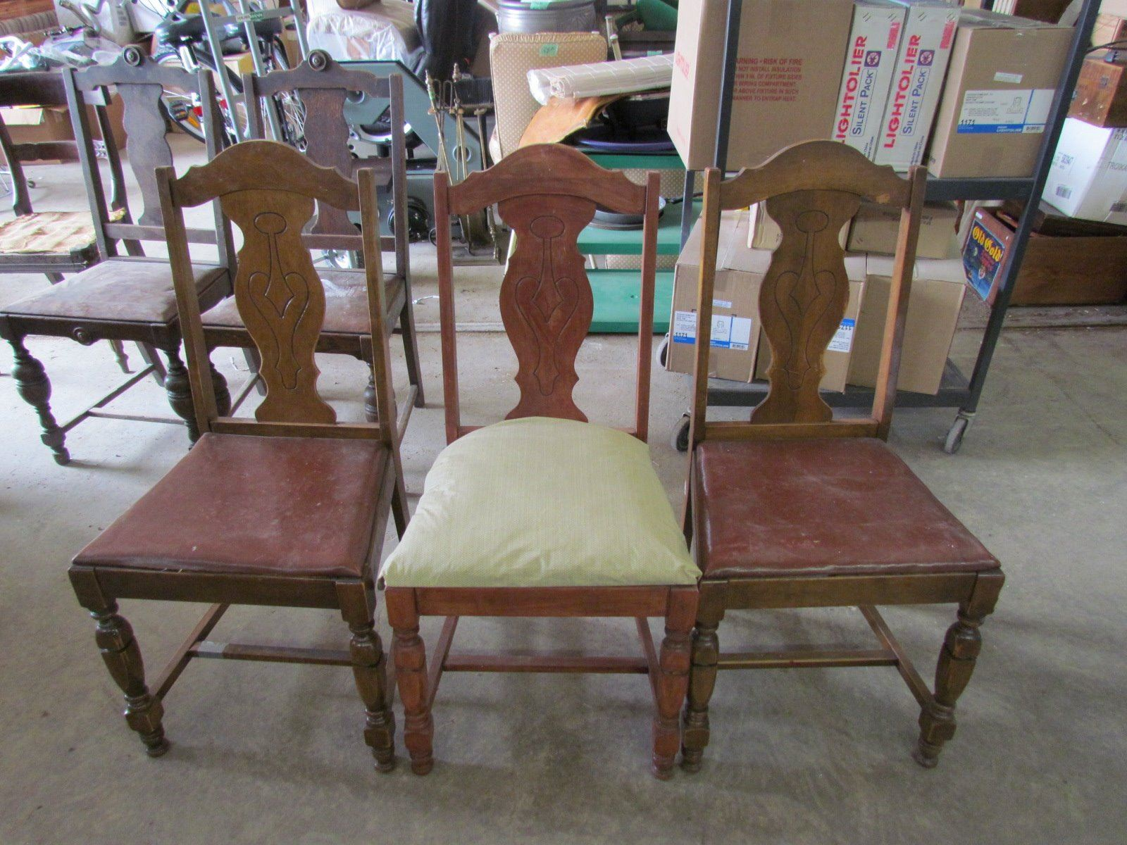 Genial Image 1 : 3 Antique Chairs   1 Chair Cushion Replaced ...